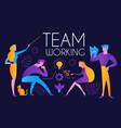 teamwork group men and women at creative vector image