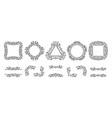 text frame monogram devider corner art set vector image vector image