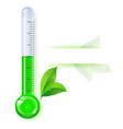 thermometer by seasons spring on white vector image