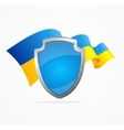 Ukraine Flag and Shield vector image vector image