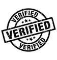 verified round grunge black stamp vector image vector image