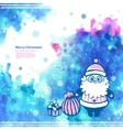 Watercolor Christmas Santa can be used as a vector image