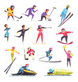 winter sports set vector image vector image