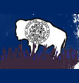 wyoming state flag with audience vector image vector image