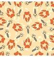 Cartoon seamless pattern with animal footprints vector image