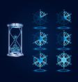 New Year Loader Progress Bar Designs vector image
