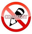 No Comment vector image