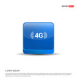 4g icon - 3d blue button vector image vector image