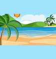 a beach summer background vector image