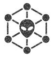 Alien Network Grainy Texture Icon vector image vector image