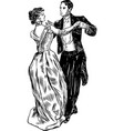 ancient dancing couple vector image