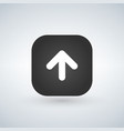app rounded square shape with white arrow and vector image vector image