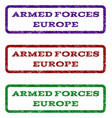 armed forces europe watermark stamp vector image