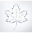 Autumn leaf Notepad sketch vector image vector image