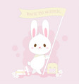 back to school cute bunny hand drawn style vector image