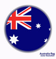 banner with flag of australia vector image