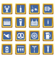 beer icons set blue vector image vector image