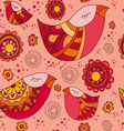 birdy spring pattern vector image vector image