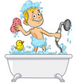 boy having bath vector image