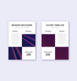 business cover design template set violet abstrac vector image vector image
