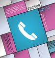 Call icon sign Modern flat style for your design vector image