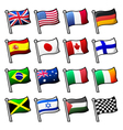 Cartoon flags vector image