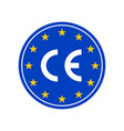 ce marking label european conformity vector image vector image