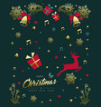 Christmas and new year vintage gold ornament card