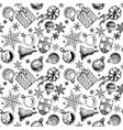 christmas background seamless tiling vector image