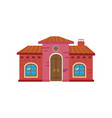 colorful mexican house mexico city facade cartoon vector image vector image