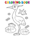 coloring book bird topic 4 vector image vector image