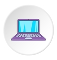 Computer icon flat style vector image vector image