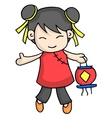 cute character for chinese theme vector image vector image