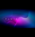 digital flowing wave particles abstract background vector image vector image