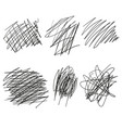 drawn angles lines circles doodle sketch vector image vector image