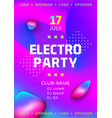 electronic music festival poster design electro vector image