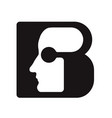 english font upper case letter b b logo logotype - vector image vector image