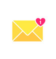 envelope letter icon mail envelope with a heart vector image