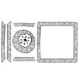 Ethnic African handmade ornament element vector image