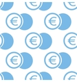 Euro coin seamless pattern vector image vector image