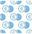 Euro coin seamless pattern vector image vector image