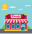 facade of candy shop flat vector image