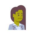 female upset emotion icon isolated avatar woman vector image vector image