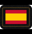 flag of spain without coat of arms icon on black vector image vector image