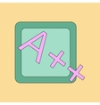 flat icon thin lines exam score excellent vector image vector image