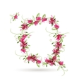 Floral letter Q for your design vector image