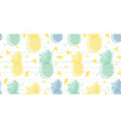 geometric fun pineapples pattern vector image