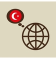 globe sphere flag turkey country button graphic vector image vector image