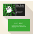 green abstract dots business card design eps10 vector image