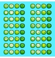 green game icons buttons icons interface ui vector image vector image